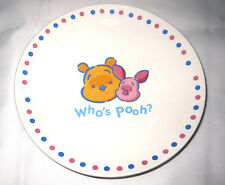"""Disney Winnie the Pooh White Ceramic Dish Size 15.5"""" made in Japan(Pic On TOP)"""