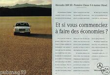 Publicité advertising 1993 (2 pages) Mercedes 300 SD