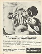 Publicité 1963  Caméra Beaulieu 8mm automatic