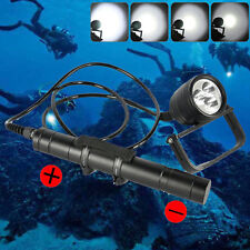 Diving Flashlight  LED XML-L2 Torch Canister Scuba Light 150m Waterproof 3000LM