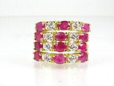 Estate 14k Yellow Gold Natural 3.00ctw Ruby & Diamond Ladies Ring 4.6g