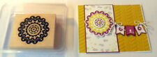 "STAMPIN UP Quint-essential flower~use with 1 3/4"" &  2 3/8"" scallop circle punch"
