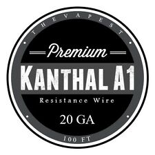 100 FT - 20 Gauge Kanthal A1 AWG Round Wire Roll .81mm, .814 ohms/ft