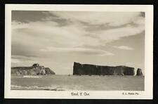 1940-60 RPPC View of Percé Rock, Quebec, Canada by photographer E.L. Désilets