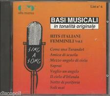 BASI MUSICALI - Hits italiani femminili vol.1 - CD NEW