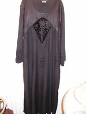 Whitby Goth. holy clothing XL/1X (16-18) black dress. Fabulous.