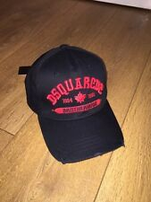 BNWT Dsquared2 Hat  Black / Red Baseball Cap. SOLD OUT Everywhere! Dsquared 2
