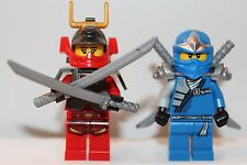 NEW LEGO NINJAGO NINJA Minifigures: SAMURAI X (NYA) & JAY ZX Blue Ninja Minifigs