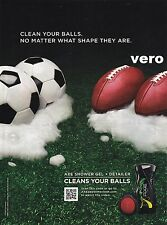 AXE shower gel 2010 COOL magazine print photo ad art clipping CLEANS YOUR BALLS