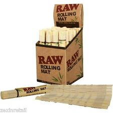 RAW NATURAL BAMBOO ROLLING MAT - Natural RAW Wood - Rapid Same Day Despatch
