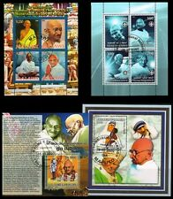 MAHATMA GANDHI MINIATURE SHEETS from 4 Different Used Sheets-C.T.O