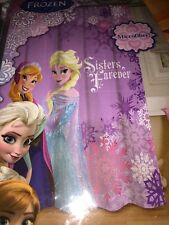 "Disney Frozen Shower Curtain Kids 70"" X 72"" 178 Cm X 183 Cm New Anna Elsa pics"