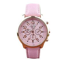 Unisex Watch Leather Band Analog Quartz Vogue WristWatch Watches Geneva watch