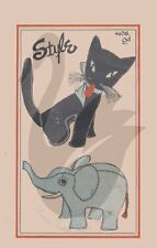 Reproduction Vintage Cat & Elephant Soft Toys Sewing Pattern ST4386