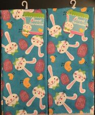 New Set Of 2 Microfiber Easter Bunny Chick Egg Spring Soft Dish Towels Cloths