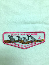 OA PAPAGO LODGE 494 QUAILS FOR THE CURE FLAP