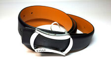 Brand New Men's 100% leather belt ZILLI . Dark-blue ! Made in France ! #10039