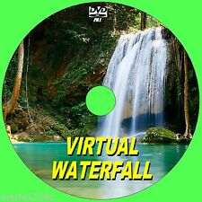 RELAX TO A VIRTUAL WATERFALL VIDEO DVD  FOR FLATSCREEN, PLASMA, LED TV/PC NEW