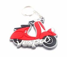 1 RUBBER VESPA MOTORCYCLE KEYCHAIN KEY RING  RED #1