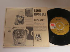 """Leon Russel Delta Lady / Oisces Apple Lady  UK A&M  7""""   Rare Picture Sleeve"""
