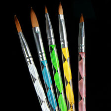 5X Acrylic Nail Art UV Gel Carving Pen Brush Liquid Powder DIY No.4/6/8/10/12 UK