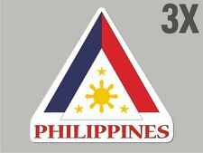 3 Philippines shaped stickers flag crest decal bumper car bike emblem vinylCN028