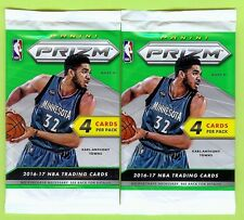 LOT OF (2) 2016-17 PANINI PRIZM BASKETBALL AUTO AUTOGRAPH HOT PACK