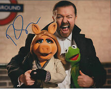 Ricky GERVAIS SIGNED Autograph 10x8 Photo AFTAL COA The Office MUPPETS