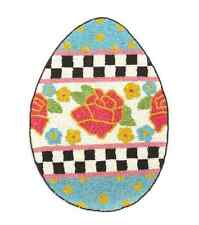 "MacKenzie-Childs Spring/Easter Egg Hunt Glass Beaded Placemat-11.25"" x 15.5"""
