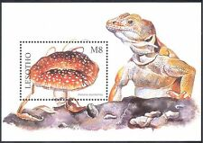 Lesotho 1998 PANTHER PAC FUNGHI / funghi / piante / Lizard / Natura IV M / S (B560)
