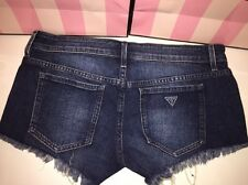 GUESS JEAN SHORTS SIZE 28 CUT OFFS WOMENS NWT