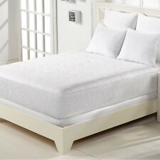 Mattress Pad Cal King Bed Cotton Topper Protector Cover Bedroom Bedding Sheets
