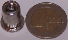 10 M8 Edelstahl A2 Nietmuttern Flachkopf 0,5-3,0mm