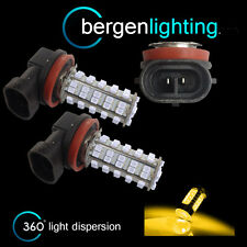 2X H11 YELLOW 60 LED FRONT FOG SPOT LAMP LIGHT BULBS HIGH POWER XENON FF500702