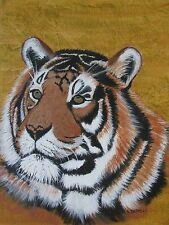 "LEE DAVIES AUSTRALIAN OIL ""FACE OF THE TIGER"" PORTRAIT 2006"