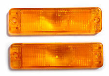 Pair of NEW ARB Bullbar Orange, Amber Indicator light lenses 135 x 38mm Signals
