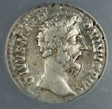 AD 180 Ancient Roman Silver Coin Commodus For M Aurelius ANACS VF-25 AKR