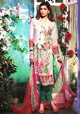 Embroidered Trouser Kurta Stitched 3 Pcs Pakistani Indian Designer Salwar Kameez