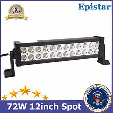 "12""IN 72W Epistar LED Trailer Light Bar Jeep Offroad Boat Car SUV ATV 4X4WD Spot"