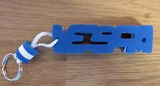 Vespa Palabra De Espuma Letra Azul / Blanco Llavero Anilla Espacios