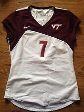 2009 Nike Virginia Tech Hokies Volleyball #7 White Game Worn Jersey