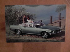 NOS MUSTANG ORIGINAL FORD ISSUE UNUSED PHOTO POSTCARD 1969 CONVERTIBLE 69
