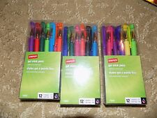 STAPLES GEL STICK PENS MULTI COLOR 0.7mm Medium 11642 SET OF 12 IN A PACK
