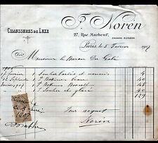 """PARIS (VIII°) CHAUSSURES de LUXE / MODE """"J. NOREN"""" en 1907"""