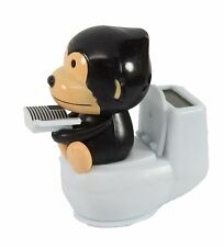Black Monkey Reading on Toilet Bowl Solar Toy Home Decor Holiday Gift US Seller