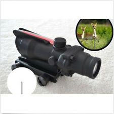 New ACOG 4X32 Red Fiber Optic Triangle illuminated Rifle scope 4x magnification