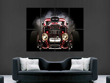 HOT ROD CAR RED  GIANT WALL POSTER ART PICTURE PRINT LARGE