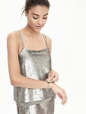 Matte Gold Sequin Spaghetti Strap BR Dress***retail $198