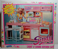 HASBRO 1990 SINDY LIGHT N SOUND KITCHEN CAFE DOLL HOUSE EUROPEAN MIP UNUSED RARE