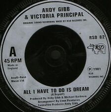 "ANDY GIBB AND VICTORIA PRINCIPAL all i have to do is dream RSO 82 uk 7"" WS EX/"